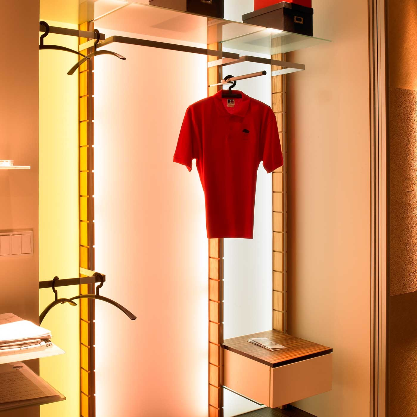 Garderobe coat rack prime s 81 anbauelement ma for Garderobe 35 cm