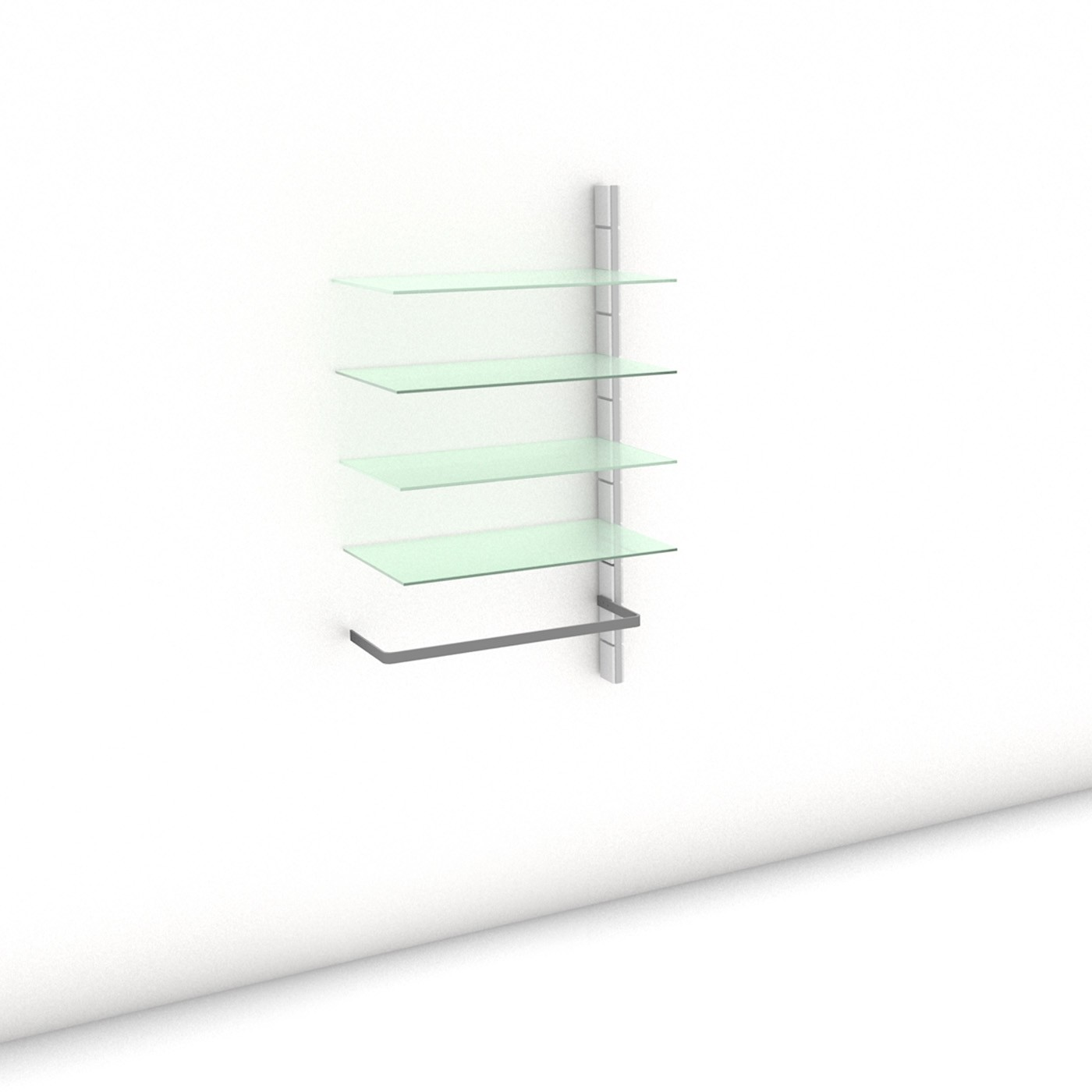 Begehbarer Kleiderschrank - Prime (L) 81 - Anbauelement - Maß: 81 x 143,2 x 45 cm (B x H x T)