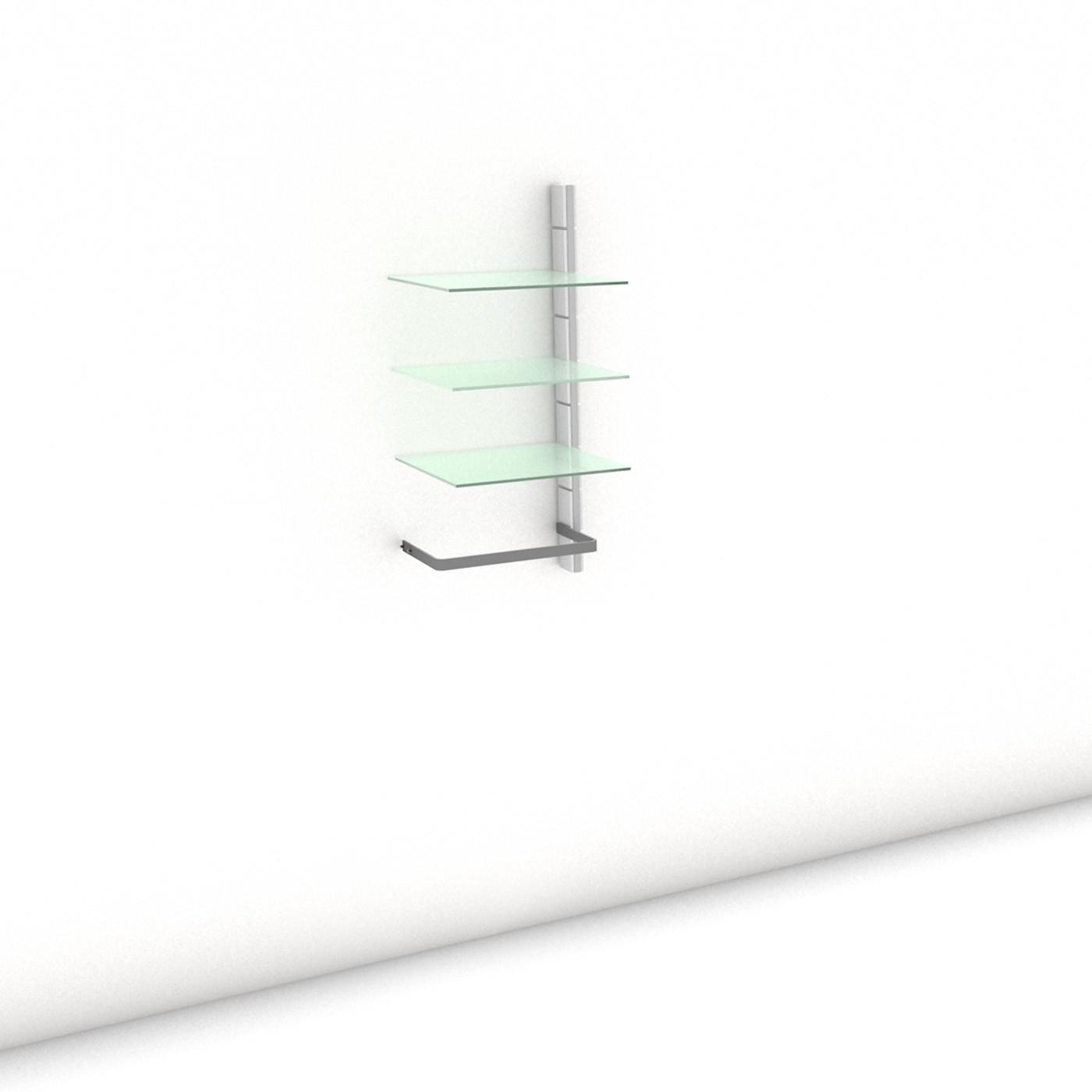Begehbarer Kleiderschrank - Comfort (M) 51 - Anbauelement - Maß: 51 x 107,2 x 45 cm (B x H x T)