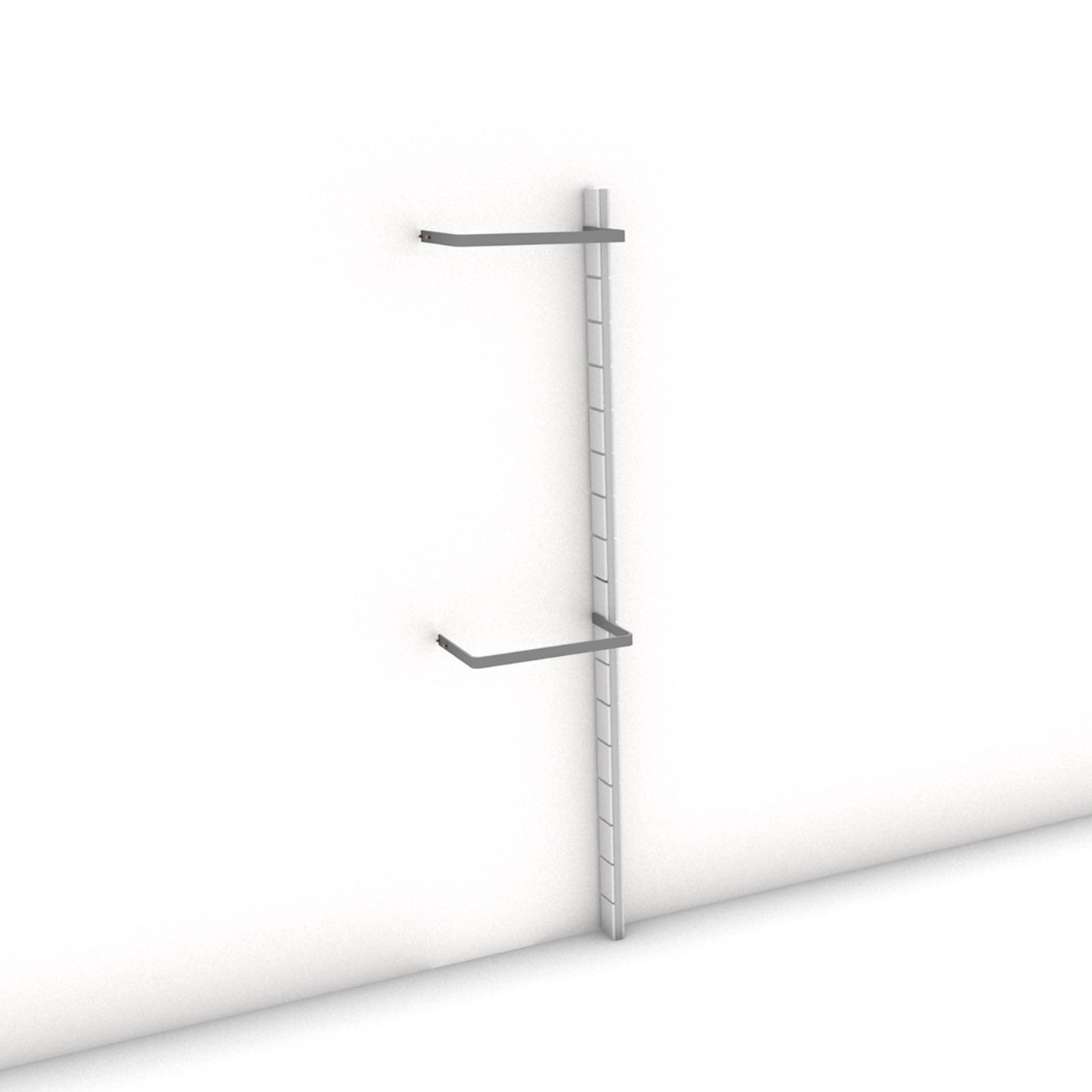 Begehbarer Kleiderschrank - Comfort (XL) 51 - Anbauelement HANG-UP - Maß: 51 x 215,2 x 27 cm (B x H x T)