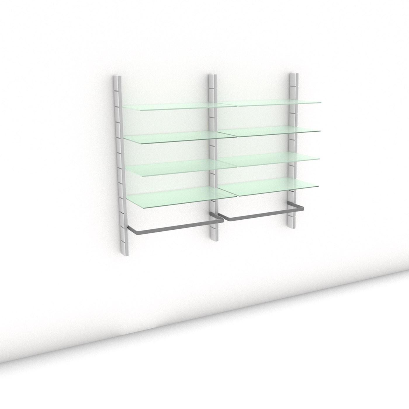 Begehbarer Kleiderschrank - Prime (L) 164 - Maß: 164 x 143,2 x 45 cm (B x H x T)