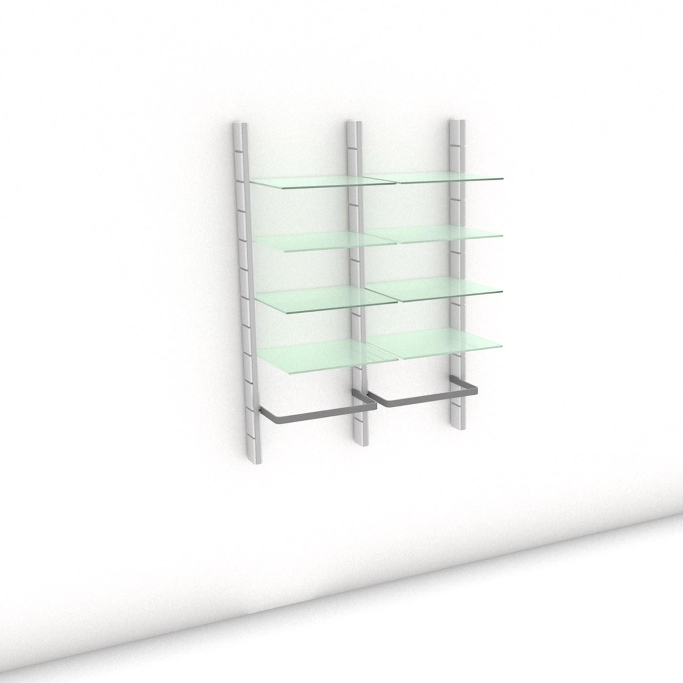 Begehbarer Kleiderschrank - Comfort (L) 104 - Maß: 104 x 143,2 x 45 cm (B x H x T)