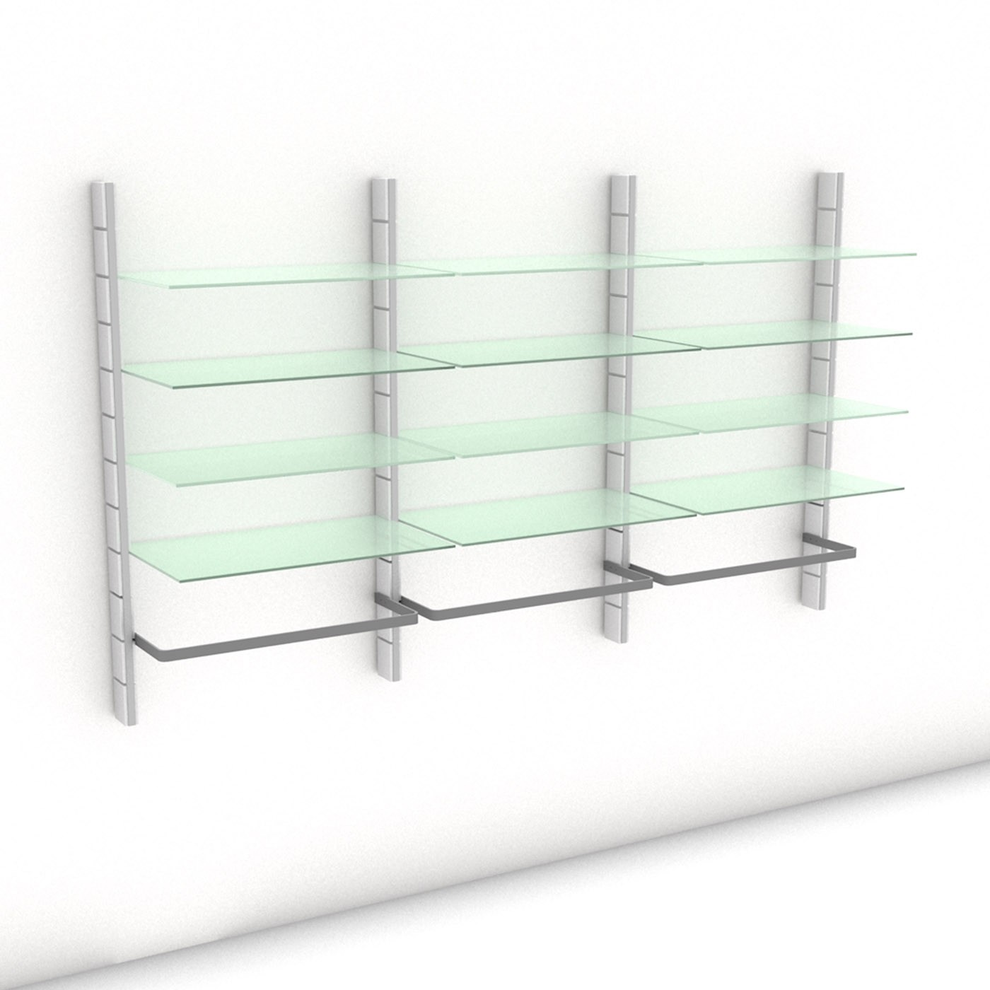 Begehbarer Kleiderschrank - Prime (L) 244 - Maß: 244 x 143,2 x 45 cm (B x H x T)