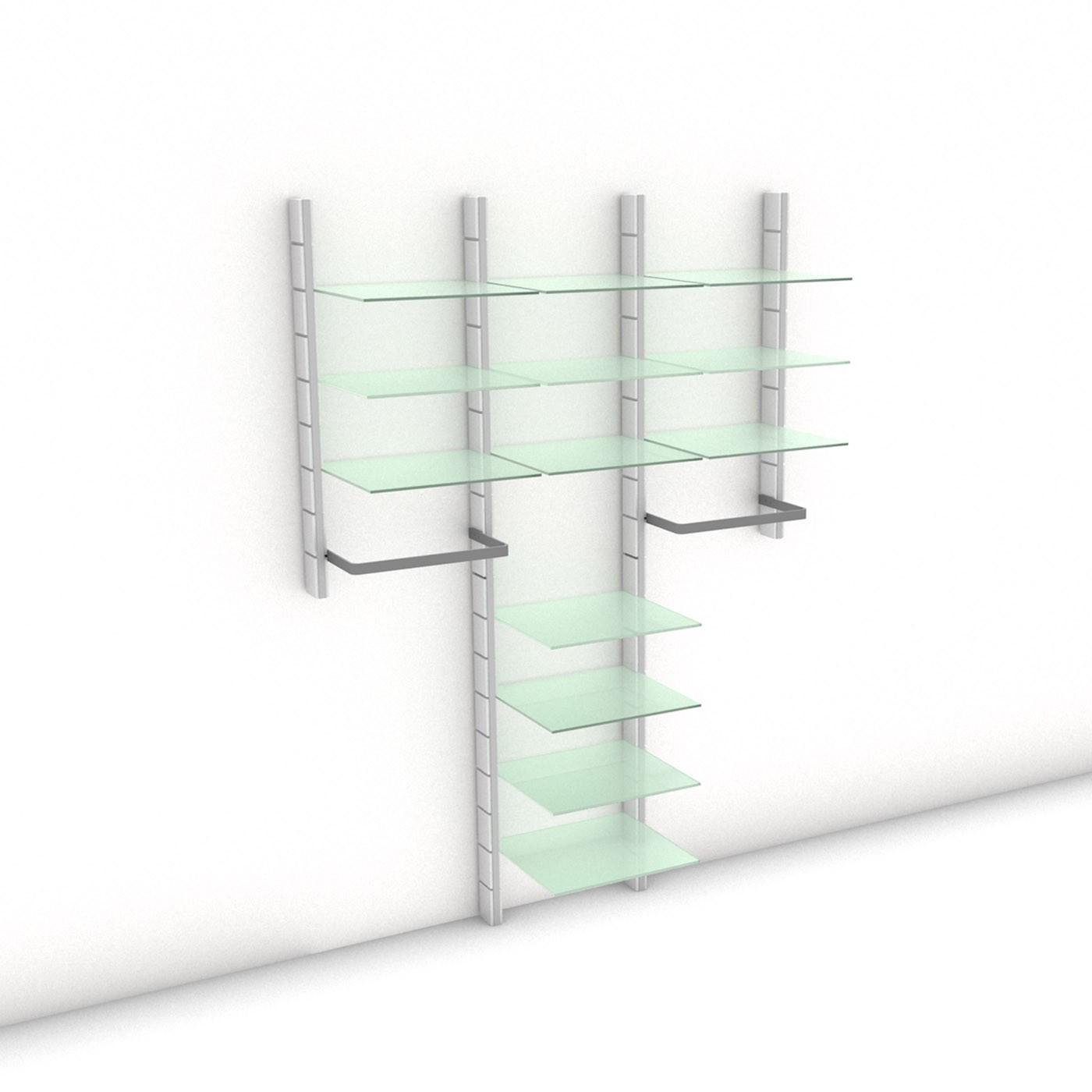 "Begehbarer Kleiderschrank - WALK-IN ""Comfort I"" 154  - Maß: 154 x 215,2 x 45 cm (B x H x T)"