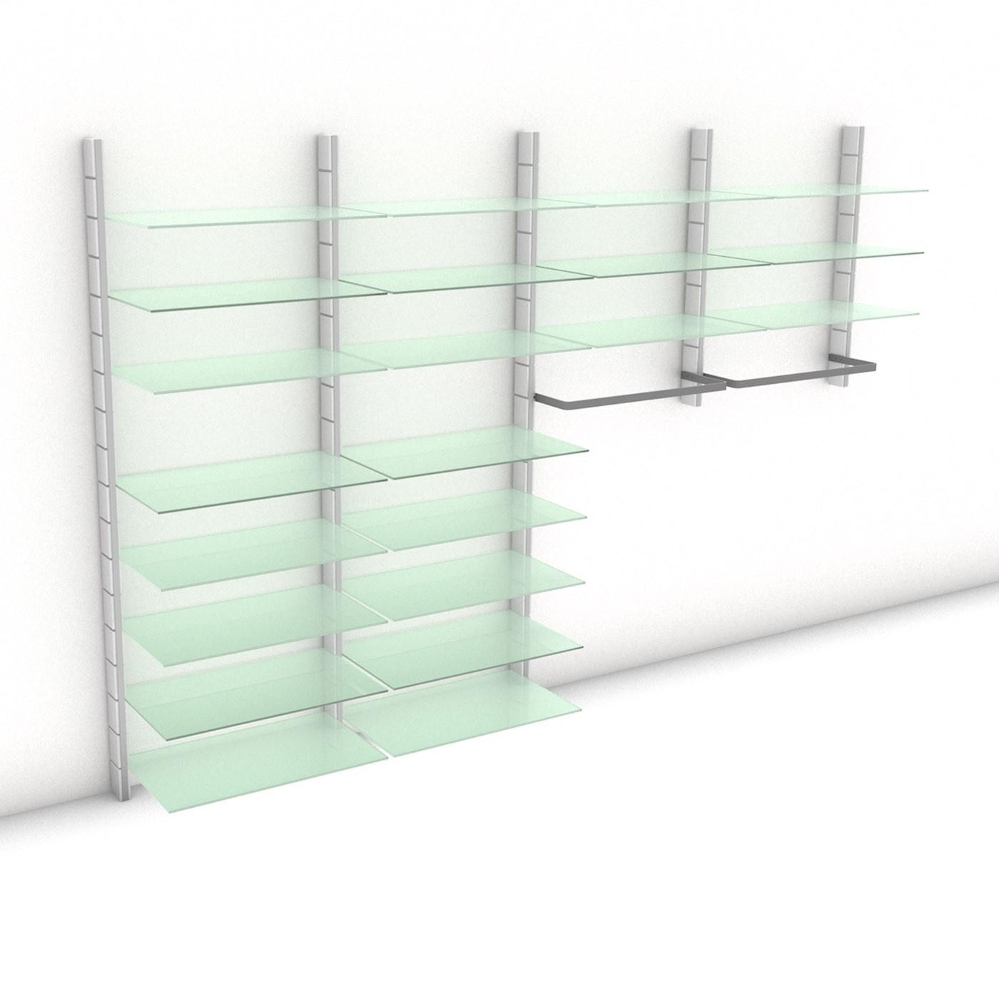 "Begehbarer Kleiderschrank - WALK-IN ""Prime III"" 324 - Maß: 324 x 215,2 x 45 cm (B x H x T)"