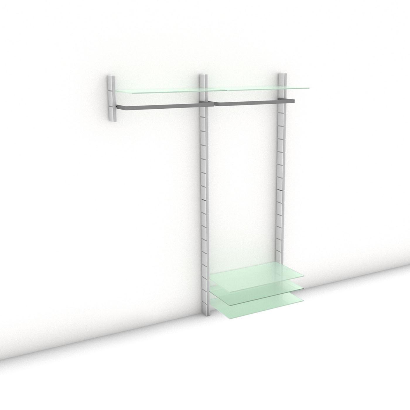 Garderobe - HALL-STAND - Prime (S/XL) 164 - Maß: 164 x 215,2 x 30 (45) cm (B x H x T)