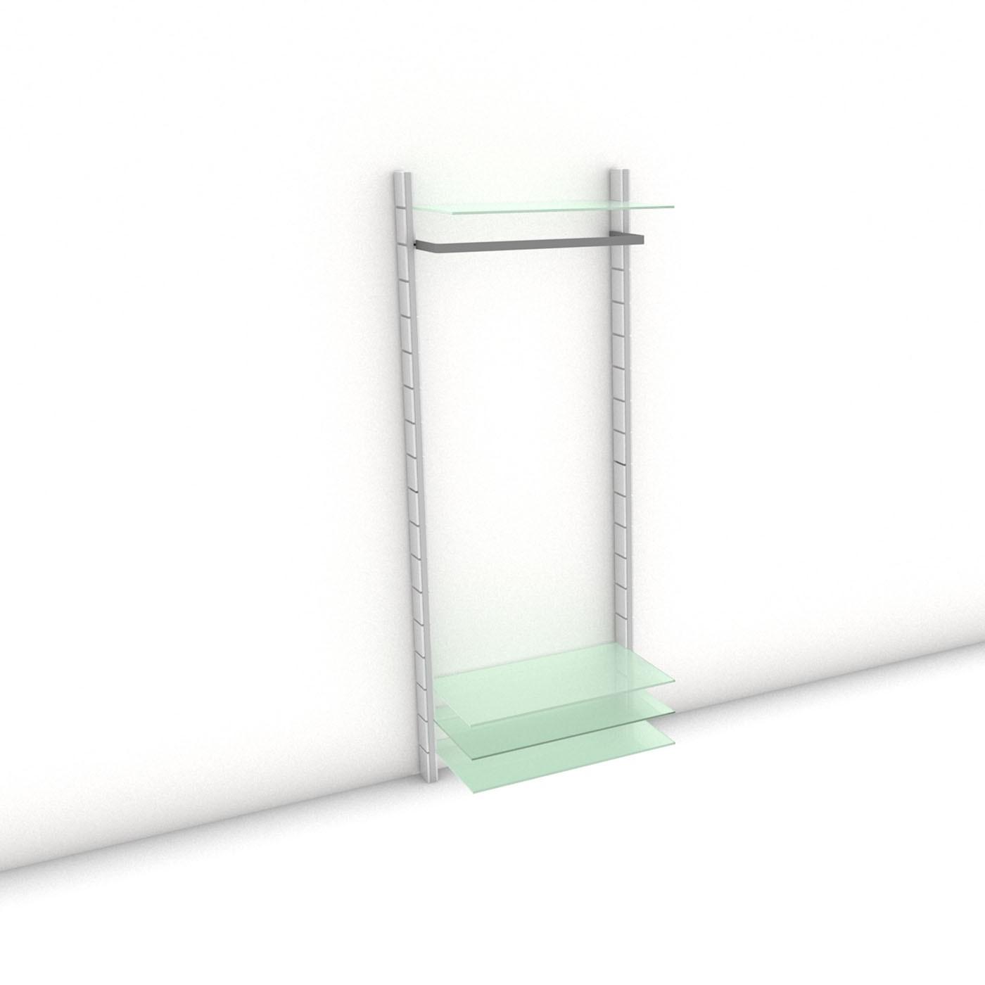 Garderobe - HALL-STAND - Prime (XL) 84 - Maß: 84 x 215,2 x 30 (45) cm (B x H x T)