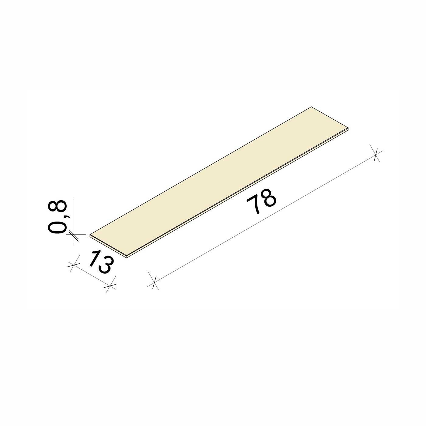 E.T. Stolle - Glasboden - Maße: 78 x 13 x 0,8 cm