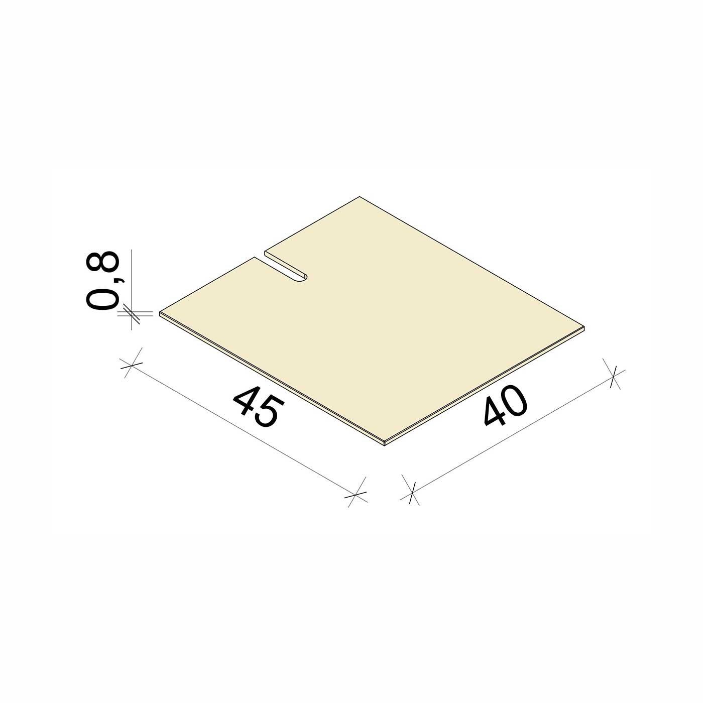 E.T. Stolle - Schlitzglasboden Nebel - Maße: 40 x 45 x 0,8 cm