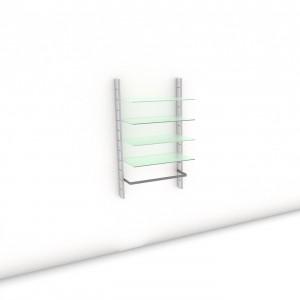 Begehbarer Kleiderschrank - Prime (L) 84 - Maß: 84 x 143,2 x 45 cm (B x H x T)