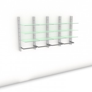 Begehbarer Kleiderschrank - Comfort (M) 204 - Maß: 204 x 107,2 x 45 cm (B x H x T)