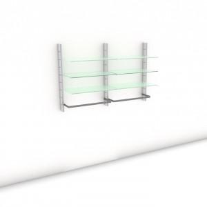 Begehbarer Kleiderschrank - Prime (M) 164 - Maß: 164 x 107,2 x 45 cm (B x H x T)