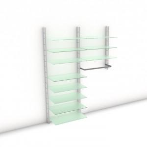 "Begehbarer Kleiderschrank - WALK-IN ""Prime I"" 164 - Maß: 164 x 215,2 x 45 cm (B x H x T)"