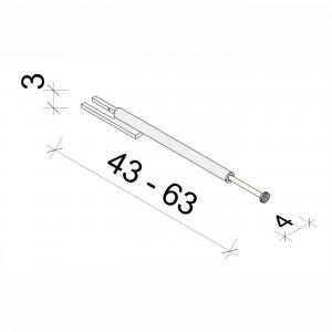 E.T. Stolle - Garderoben-Auszugsstange Alumic - Maße: 4 x 43 - 63 x 3 cm