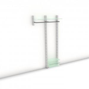 Garderobe - HALL-STAND - Comfort (S/XL) 104 - Maß: 104 x 215,2 x 30 (45) cm (B x H x T)