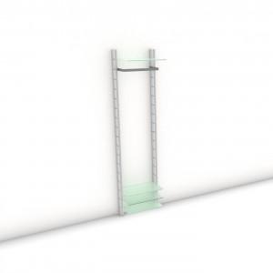 Garderobe - HALL-STAND - Comfort (XL) 54 - Maß: 54 x 215,2 x 30 (45) cm (B x H x T)