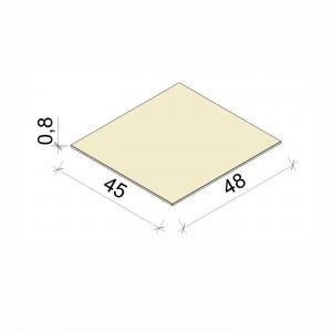 E.T. Stolle - Glasboden - Maße: 48 x 45 x 0,8 cm