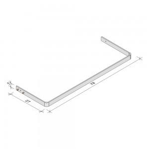 E.T. Stolle - Kleiderstangen (Stahl), Space-Metallic - Maße: 78 x 27 x 3 cm