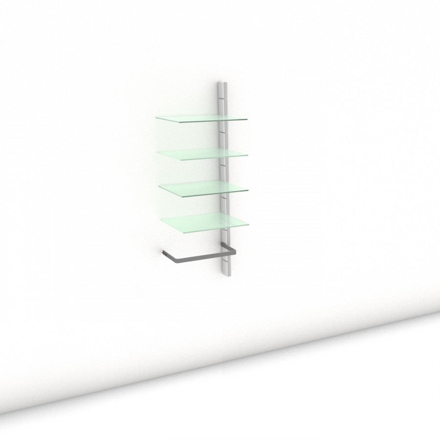 Begehbarer Kleiderschrank - Comfort (L) 51 - Anbauelement - Maß: 51 x 143,2 x 45 cm (B x H x T)