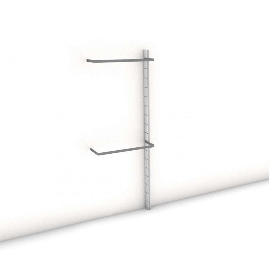 Begehbarer Kleiderschrank - Prime (XL) 81 - Anbauelement HANG-UP - Maß: 81 x 215,2 x 27 cm (B x H x T)
