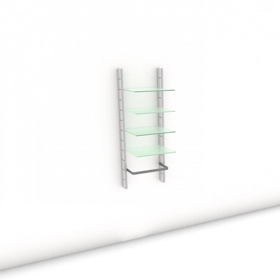 Begehbarer Kleiderschrank - Comfort (L) 54 - Maß: 54 x 143,2 x 45 cm (B x H x T)