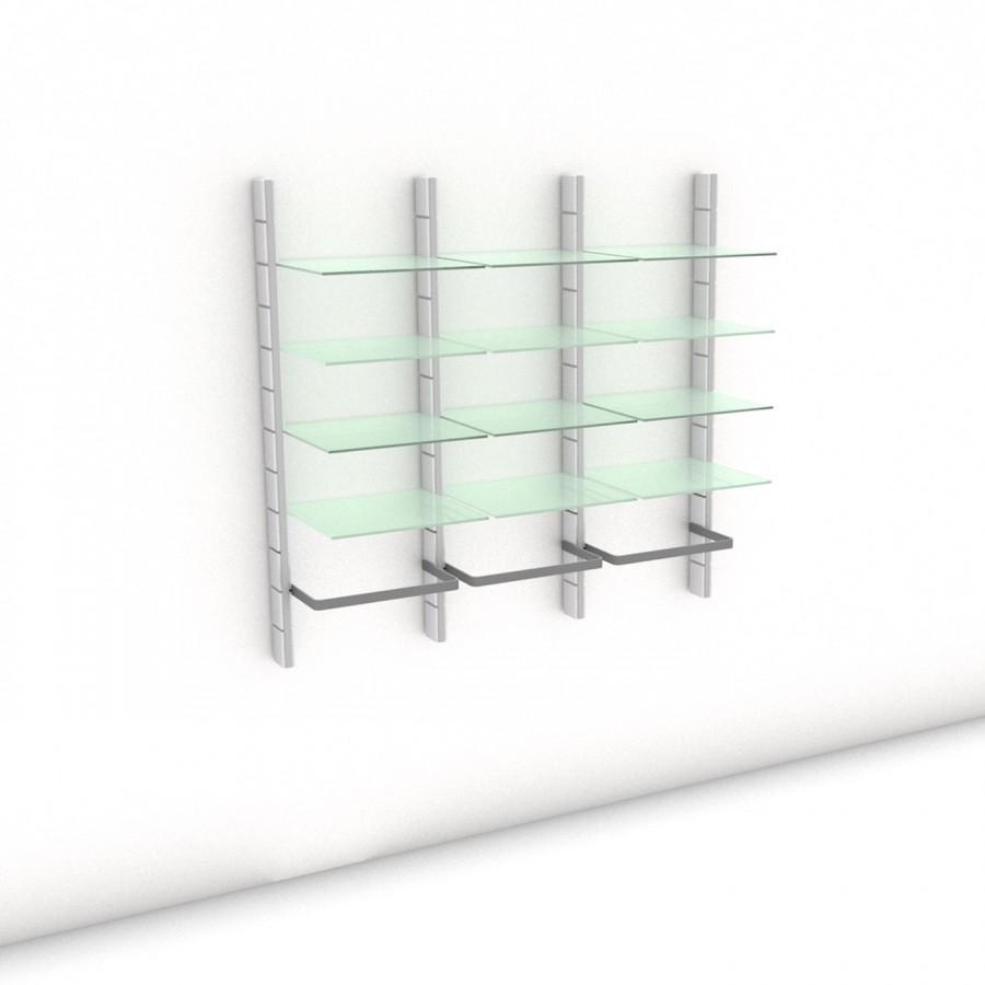 Begehbarer Kleiderschrank - Comfort (L) 154 - Maß: 154 x 143,2 x 45 cm (B x H x T)