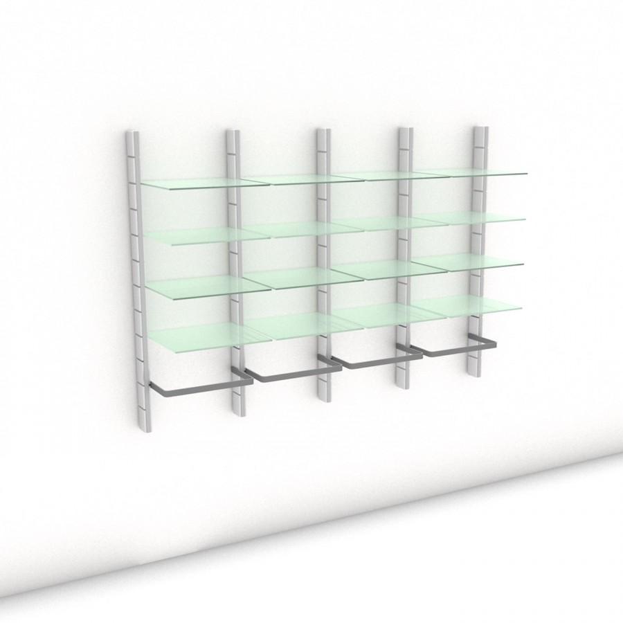 Begehbarer Kleiderschrank - Comfort (L) 204 - Maß: 204 x 143,2 x 45 cm (B x H x T)