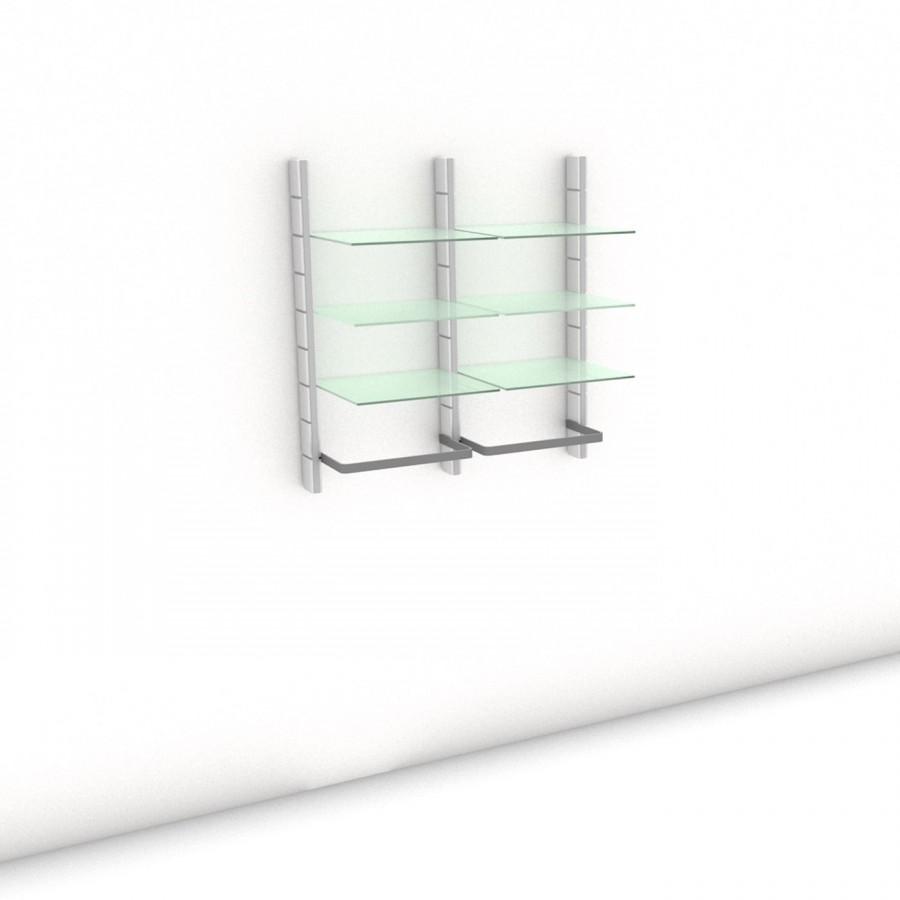 Begehbarer Kleiderschrank - Comfort (M) 104 - Maß: 104 x 107,2 x 45 cm (B x H x T)
