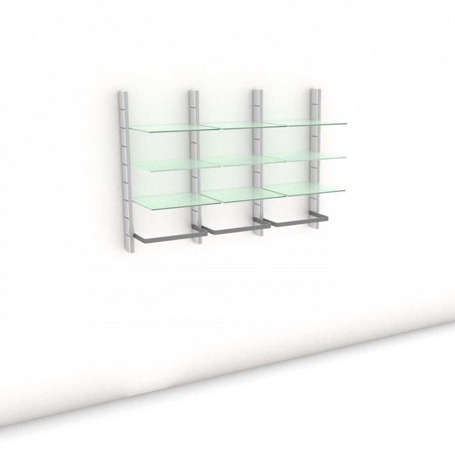 Begehbarer Kleiderschrank - Comfort (M) 154 - Maß: 154 x 107,2 x 45 cm (B x H x T)