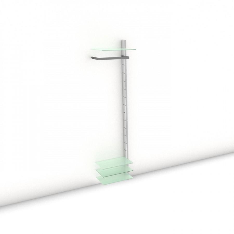 Garderobe - HALL-STAND - Comfort (XL) 51 - Anbauelement - Maß: 51 x 215,2 x 30 (45) cm (B x H x T)