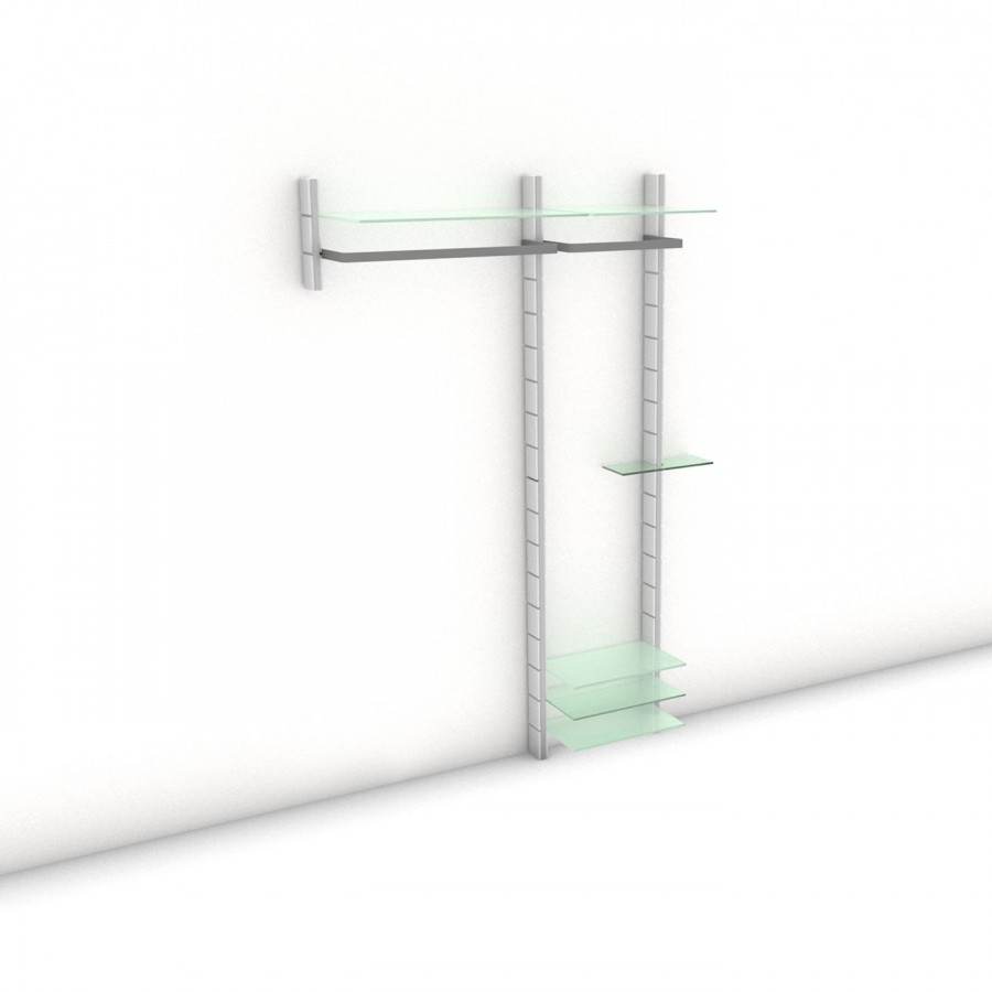 Garderobe - HALL-STAND - Mixed - Maß: 152 x 215,2 x 30 (45) cm (B x H x T)