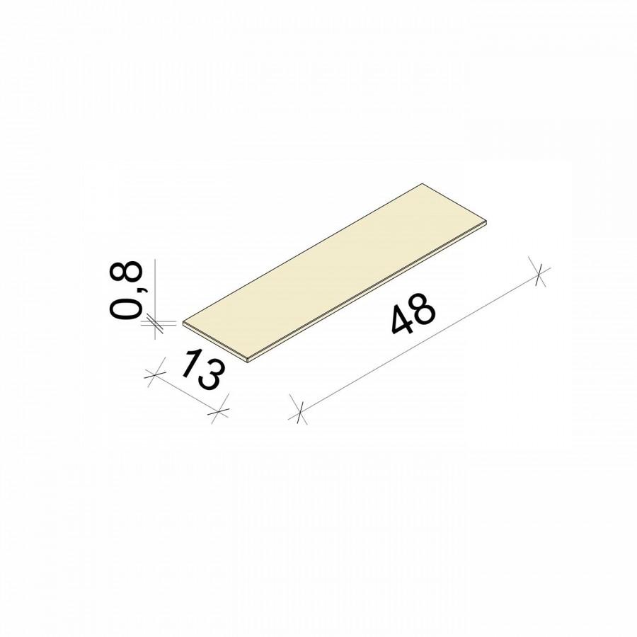 E.T. Stolle - Glasboden - Maße: 48 x 13 x 0,8 cm