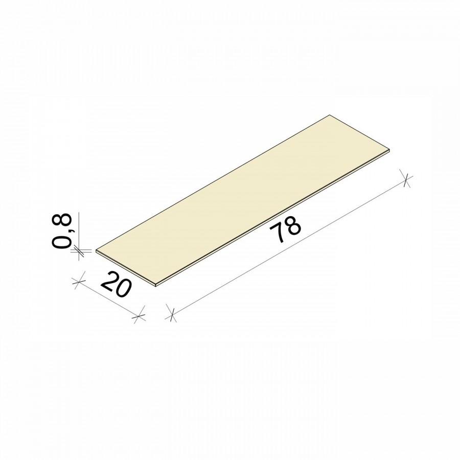 E.T. Stolle - Glasboden - Maße: 78 x 20 x 0,8 cm