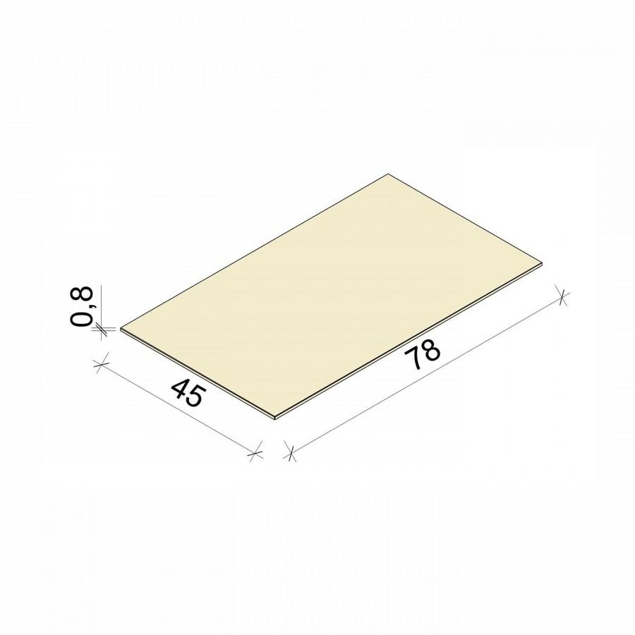 E.T. Stolle - Glasboden - Maße: 78 x 45 x 0,8 cm