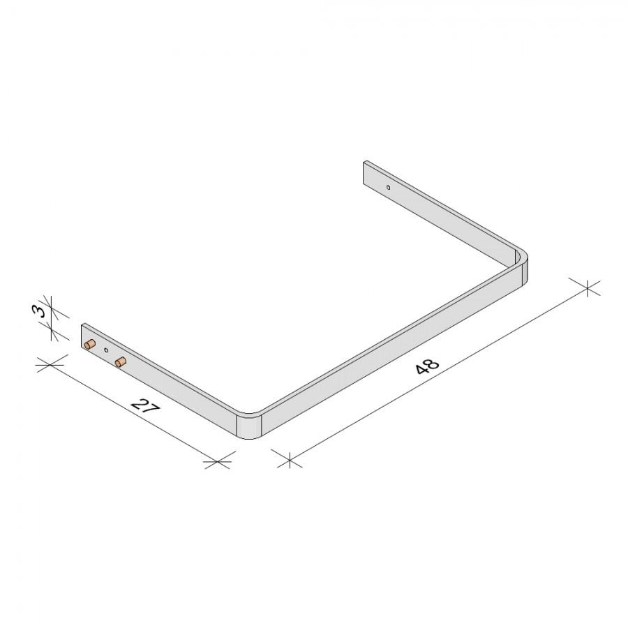 E.T. Stolle - Kleiderstangen (Stahl), Space-Metallic - Maße: 48 x 27 x 3 cm