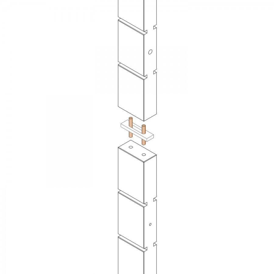E.T. Stolle - Stollenadapter für Längenverbindung - Maße: 2 x 8 x 0,8 cm
